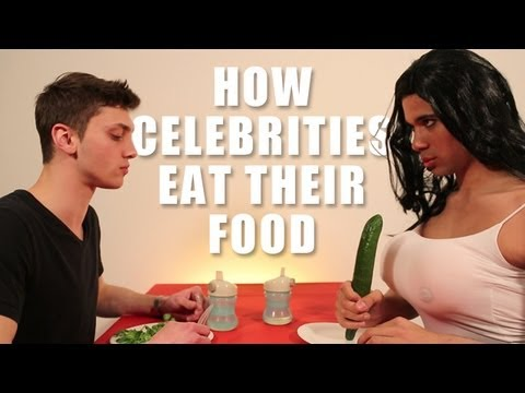 How Animals Eat Their Food (Celebrities version)