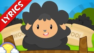 Baa Baa Black Sheep + Lyrics | Nursery Rhymes for Children | CheeriToons
