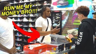 Finding Cash In Customers Shoes Prank!