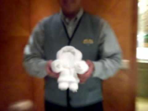 CRUZEIRO - aprendendo dobrar toalhas