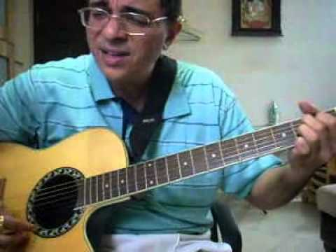 Kahin Dhoor Jab Hindi song guitar chords lesson by Suresh