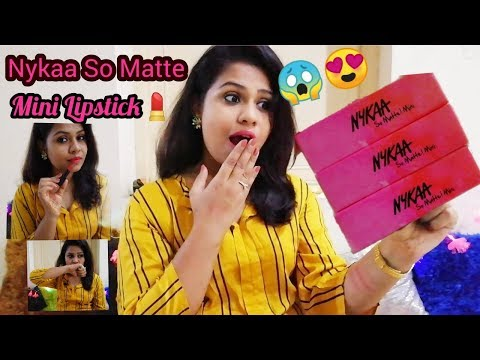 *New Launch* Nykaa So Matte Mini Lipstick