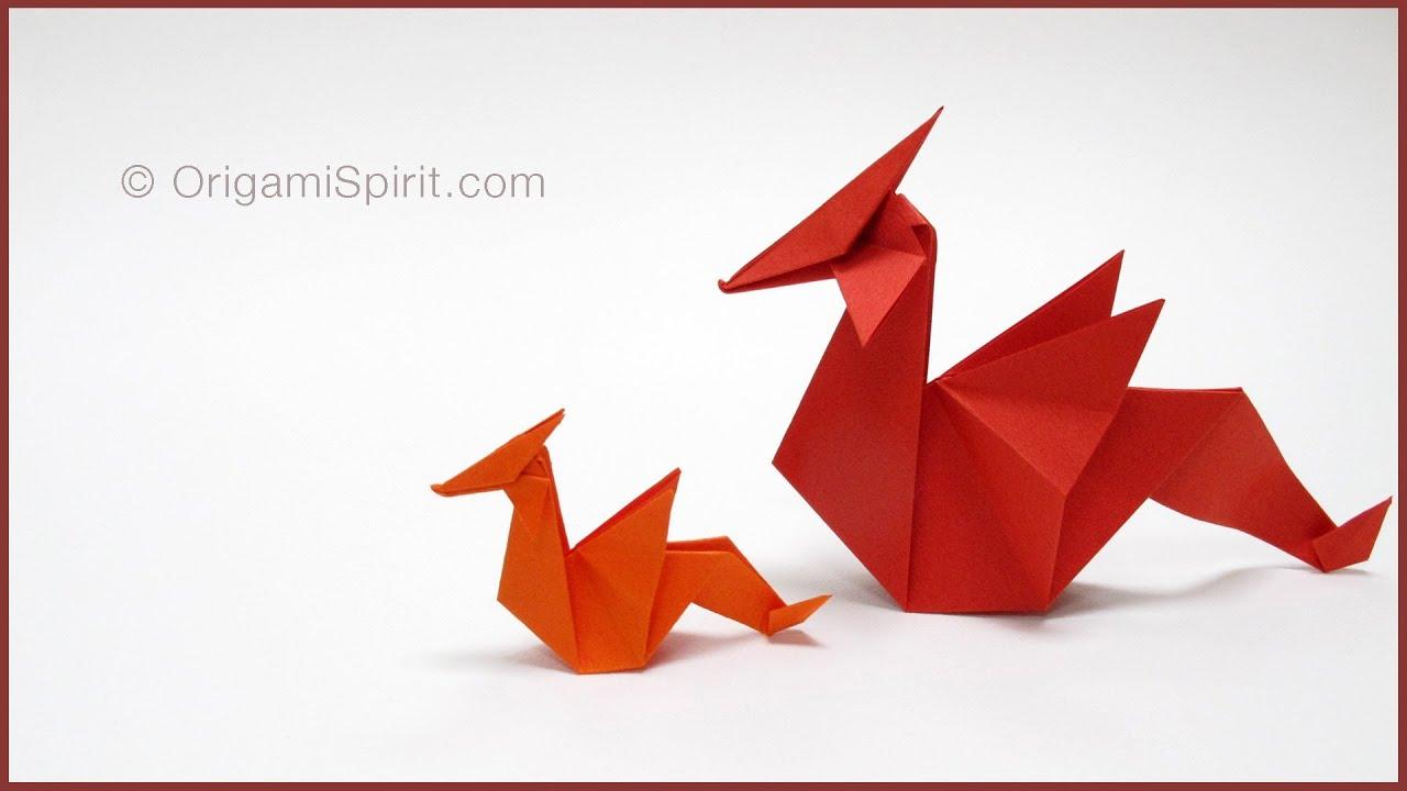 Как легче сделать дракона из бумаги