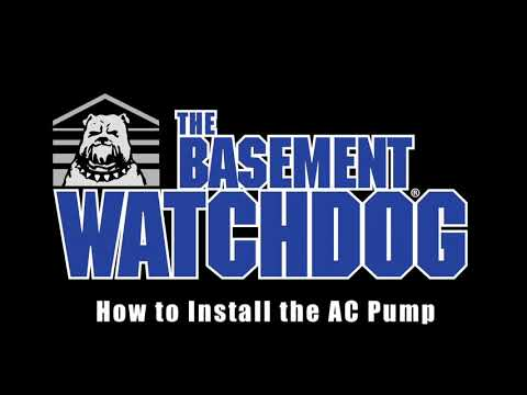 Basment Watchdog AC Sump Pump Installation, how to install a sump pump
