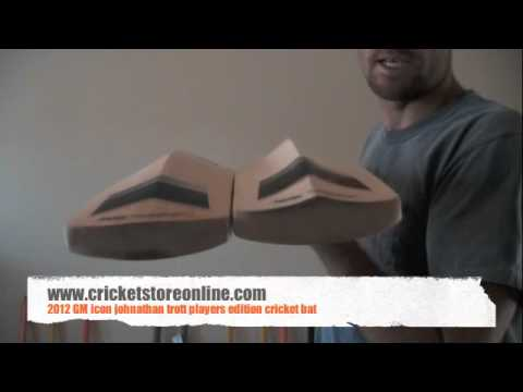 2012 GM Icon Jonathan trott player edition cricket bat video review