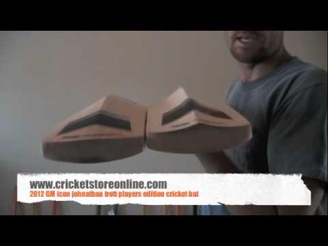 2012 GM Icon Jonathan trott player edition cricket bat video review