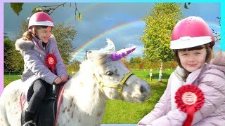 KIDS BIRTHDAY PARTY WITH REAL UNICORNS!!!