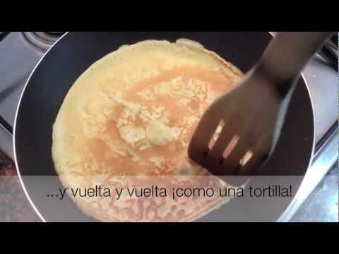 receta sencilla de crepes (4-5 crepes)