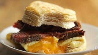 Steak, Egg & Cheese Breakfast Sandwich • Tasty