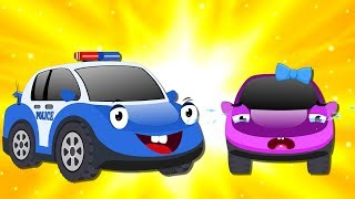 Baby Car is MISSING - Bob The Police Car on a Mission with Red Super Cars & Truck for Kids