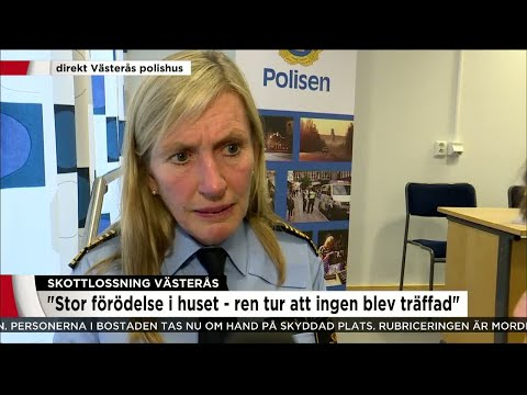 """""""Stor förödelse i huset - ren tur att ingen blev träffad"""" - Nyheterna (TV4)"""