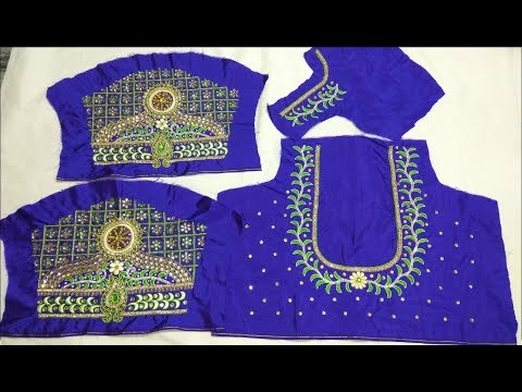 zardosi work designs latest||zardosi work designs||zardosi work designs on blouses|maggam work