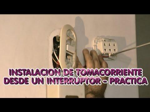 Instalacion Electrica de Tomacorriente desde un Interruptor - Practica - Parte2