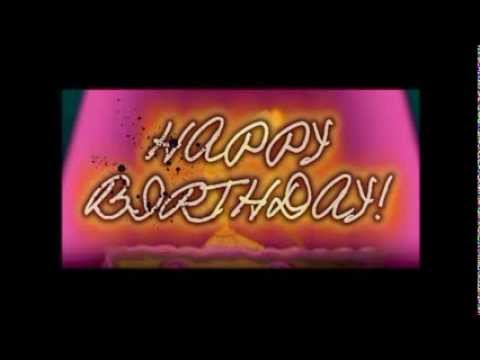 Happy Birthday song Disney Characters -Video Card-