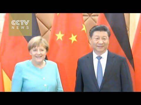 President Xi meets with Chancellor Merkel in Beijing