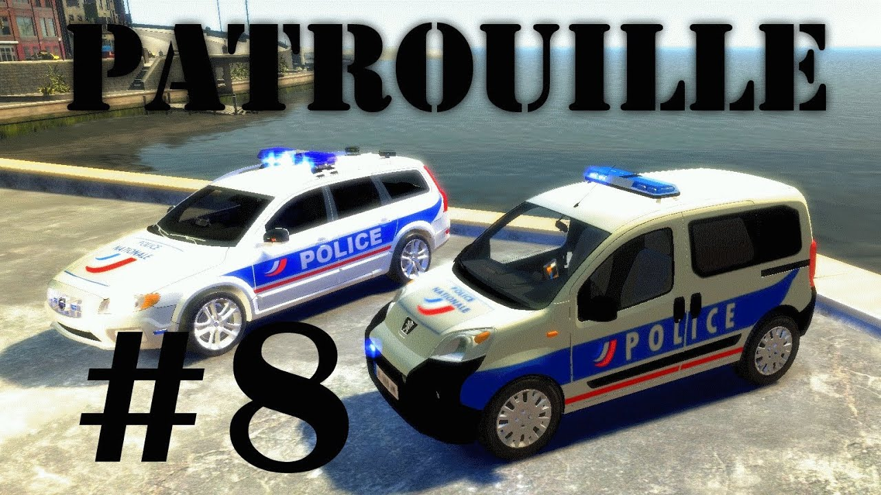 gta iv mods french patrouille 8 police nationale youtube. Black Bedroom Furniture Sets. Home Design Ideas