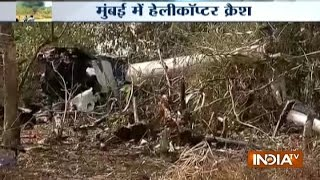 Watch: Helicopter Crashes in Mumbai's Aarey Colony, One Killed and 3 Hurt