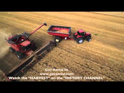 The HARVEST show on the HISTORY CHANNEL Aerial Video by Got Aerial llc. www.gotaerial.com