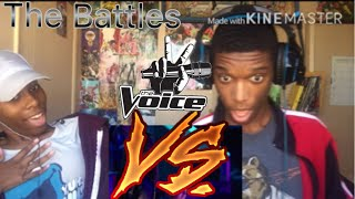 "The Voice DeAndre Vs. Funsho ""Can You Stand The Rain"" REACTION!!!"