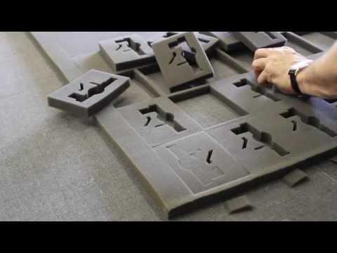 Изготовление ложементов из поролона, плоттер Zund