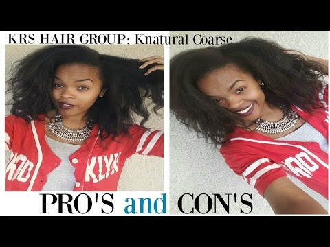 PRO'S & CON'S: KRS Hair Group Knappy Hair Extensions: Knatural Coarse (Kinky straight clip-ins)