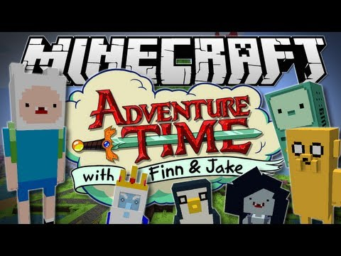 Minecraft ADVENTURE TIME The Land of Ooo Mod Showcase 1.6.2