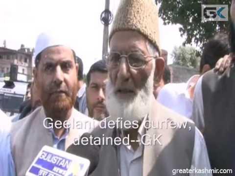 Geelani defies curfew, arrested