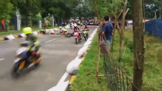 kecelakaan fatal Road race matic 150cc sirkuit pemkab bekasi