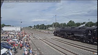 """BIG BOY"" Union Pacific #4014, Arrives to an excited crowd in Kearney, NE!"