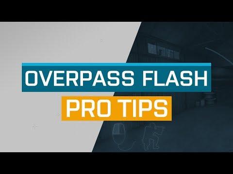 CS:GO - ProTips: Overpass - B Water Flash