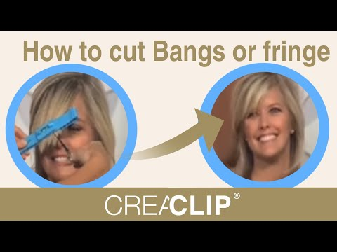 www.creaclip.com How to cut bangs at home with the CreaClip-HSN world Launch
