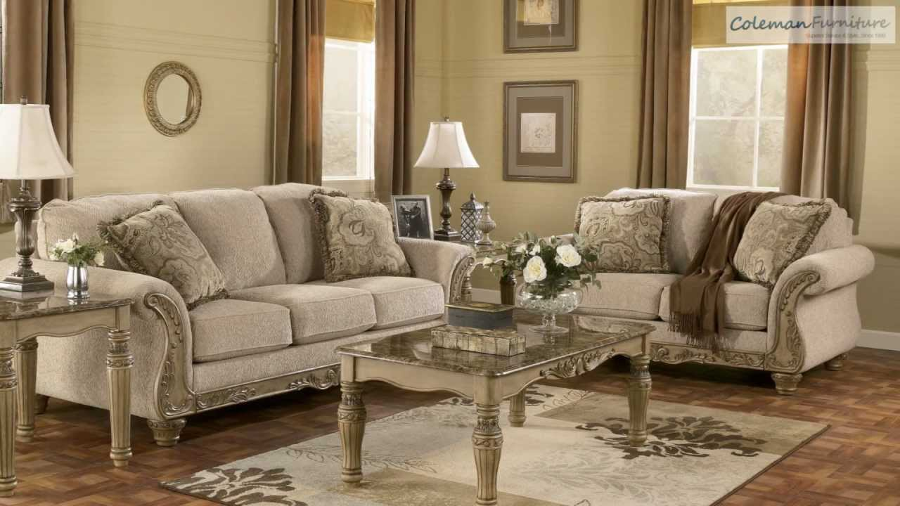 Ashley furniture living room set buy yvette steel sofa by for Liberty lagana living room sets