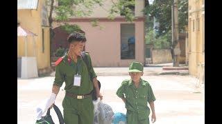 Ngày đầu nhập ngũ của các chiến sỹ CAND nhí tại trường trung cấp cảnh sát vũ trang