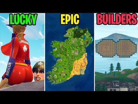 SKYBOX STRUCTURES GLITCH! LUCKY vs EPIC vs BUILDERS - Fortnite Battle Royale Funny Moments