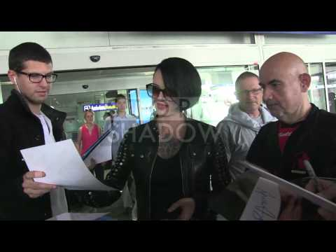 EXCLUSIVE: Asia Argento arriving at Cannes airport for the 2014 Cannes Film Festival