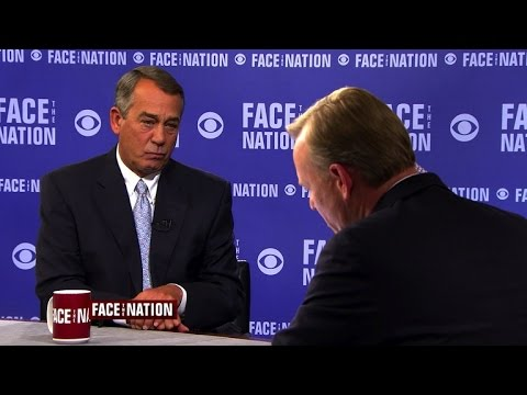 """Boehner: Pope Francis visit helped """"clear the picture"""" for his resignation"""