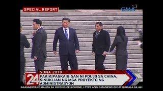 24 Oras: Pakikipagkaibigan ni PDU30 sa China, sinuklian ng mga proyekto ng administrasyon