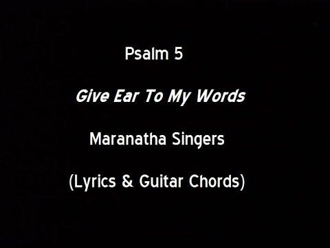 Maranatha Singers - Psalm 5 - music playlist