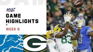 Lions vs. Packers Week 6 Highlights  NFL 2019