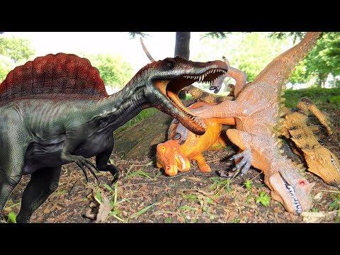 ДИНОЗАВРЫ и новый план СПИНОЗАВРА. T-REX ПОБЕЖДЕН!!! Мультики про динозавров
