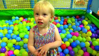 Indoor Playground Family Fun for Kids Part 4 with Spelling | Ball Pits, Inflatables, Slides, Sandbox