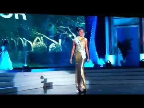 Miss El Salvador universe 2014 gown preliminary
