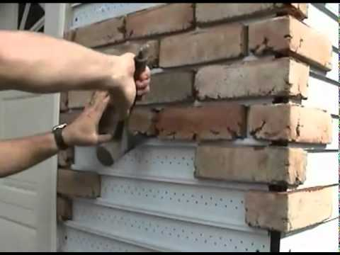 How to replace vinyl siding with real brick youtube for How to install stone veneer over exterior brick