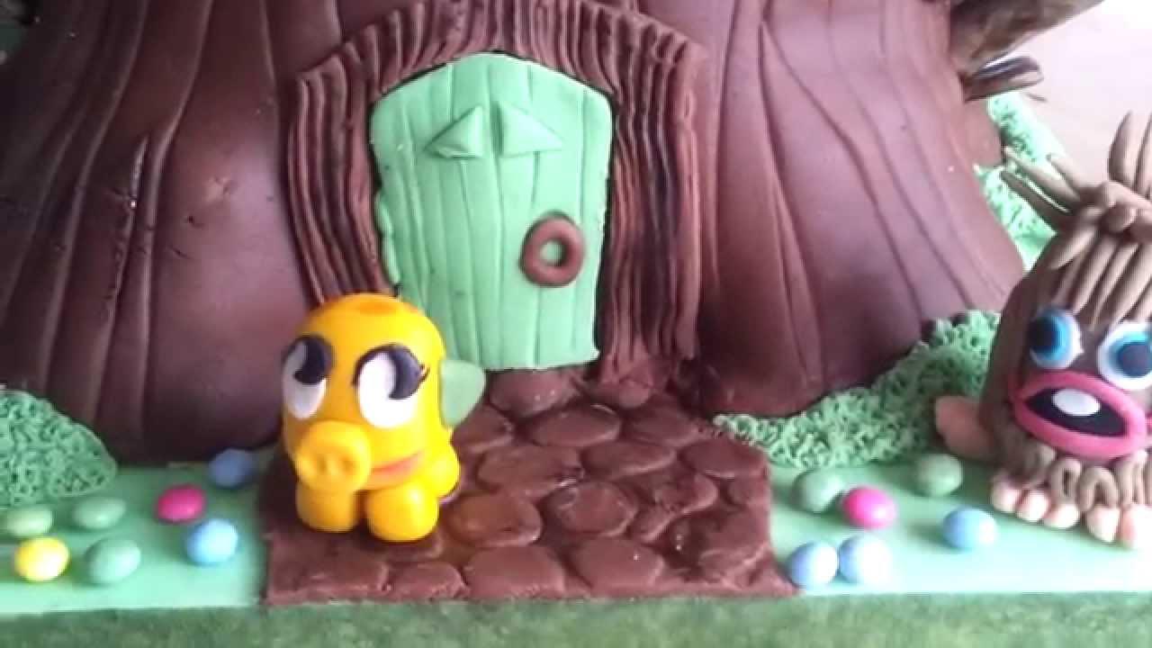 how to make a cake look like a house