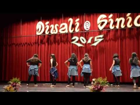 Girls' group dance @ Sinica Diwali 2015