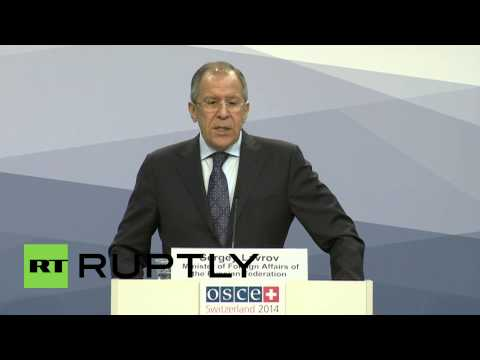 "Switzerland: ""Self-interested western powers must let Ukrainians decide their destiny,"" says Lavrov"