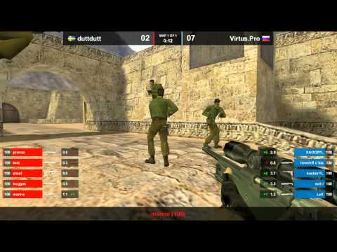 CS 1.6 ASUS Open -  Virtus.Pro vs. DuttDutt @ de_dust2