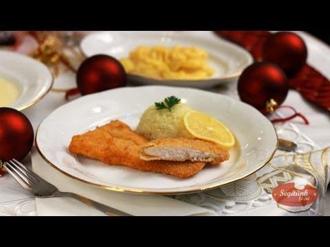 Rántott hal, majonézes krumpli saláta, rizs