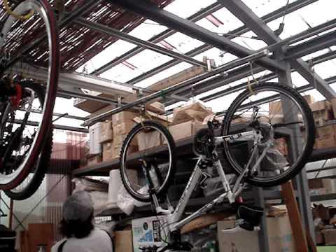 自転車の 自転車 スタンド 縦置き 自作 : ... 式 自転車スタンド」 - YouTube