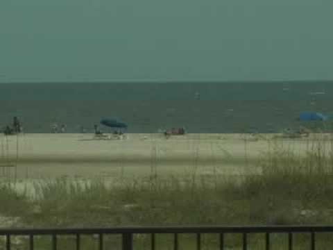 Holiday Isle on Dauphin Island beachcam view.